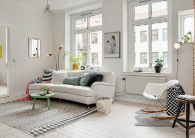 Ambiente salón in white